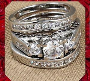 3pc Sz Wedding ring set